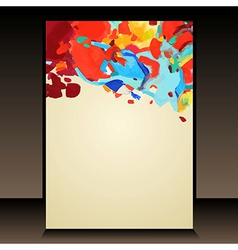 Hand draw abstract acrylic painting background vector