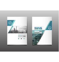 layout design template cover book city abstact vector image