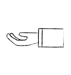 figure stretched hand with formal suit vector image