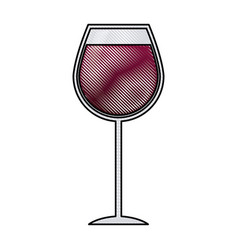 Wine glass cup drink liquor alcoholic vector