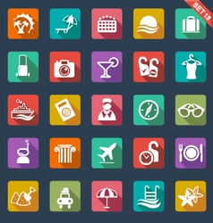 Travel and hotel icons vector image
