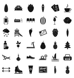 Wellness loss icons set simple style vector