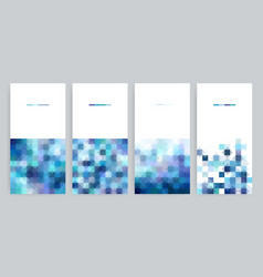 four banner with abstract geometric backgrounds vector image
