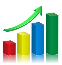 Business growth graph vector image