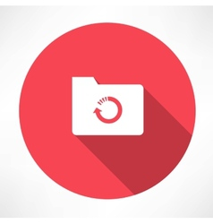 Cycle folder icon vector