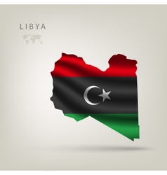 Flag of libya as the country vector