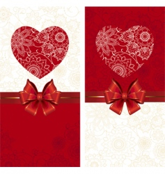 celebrate bow background with heart vector image
