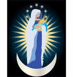 Queen of heaven vector