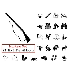 Icon set hunting vector