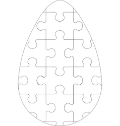 Puzzle egg in color 05 vector