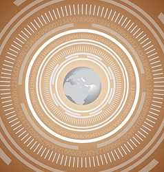 Technology global background vector