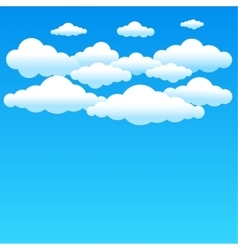 Cartoon blue clouds vector