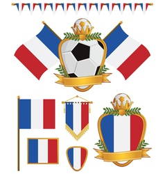 france flags vector image