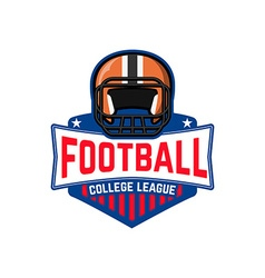 Football league college league vector