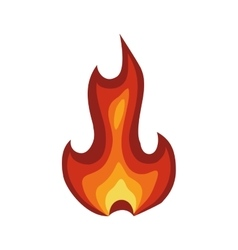 Flame icon fire design graphic vector