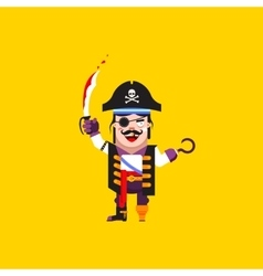 A pirate character for halloween in vector