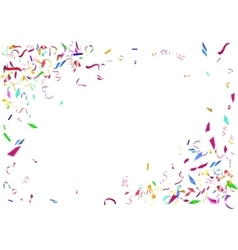 Abstract colorful confetti background isolated on vector