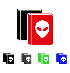 Alien library flat icon vector