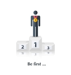 Be first vector image vector image