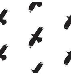 Black raven birds seamless pattern in vector