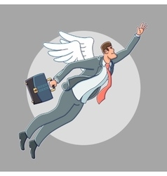 Business angel cartoon vector