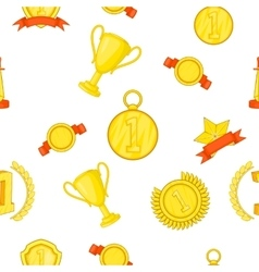 Championship pattern cartoon style vector
