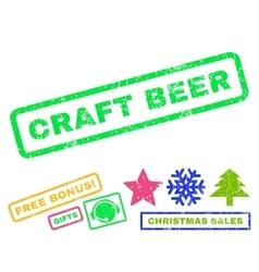 Craft beer rubber stamp vector