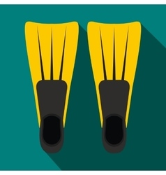 Flippers for diving icon flat style vector