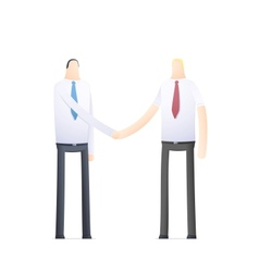 Handshake of two businessmen vector