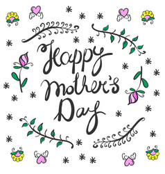 Happy mothers day card style vector