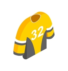 Hockey uniform isometric 3d icon vector image
