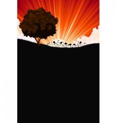 landscape and sunrise vector image