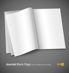 Magazine page template vector
