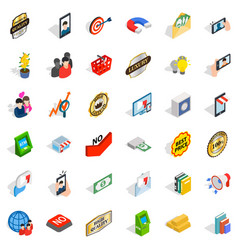 New enterprise icons set isometric style vector