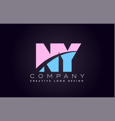 Ny alphabet letter join joined letter logo design vector