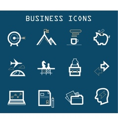 Productive at Work Icons - Blue Series vector image vector image
