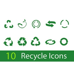 recycle signs vector image vector image
