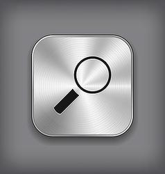 Search icon - metal app button vector image vector image