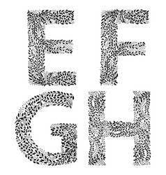 Set of letters e f g and h vector