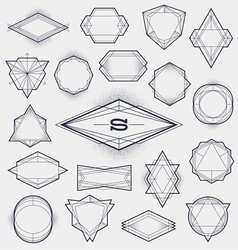 Set of Line art hipster abstract frames vector image vector image