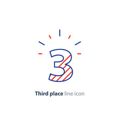 Third step concept achievement level linear icon vector
