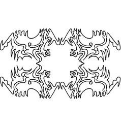 Wallpaper pattern 4-4 vector