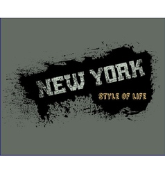 T shirt typography graphics style life new york vector