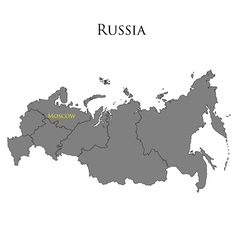 Contour map of russia 01 vector