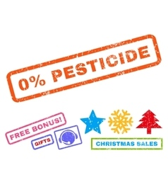 0 percent pesticide rubber stamp vector