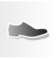 Men shoes sign  new year blackish icon on vector