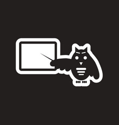 style black and white icon owl teacher vector image