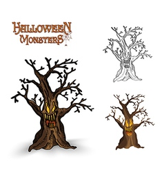 Halloween monsters spooky tree eps10 file vector