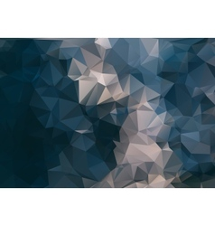 Dark abstract background polygon vector