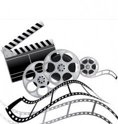 film set vector image